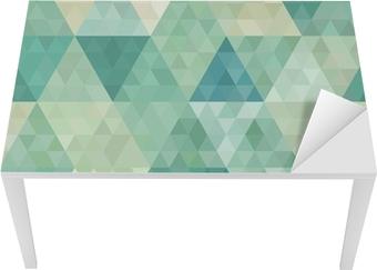 Vinilo para Mesa y Escritorio De fondo sin fisuras con el ornamento geométrico abstracto