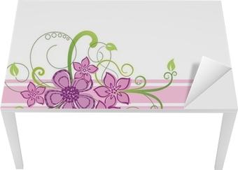Vinilo Pixerstick Diseño de la frontera floral • Pixers® - Vivimos ...