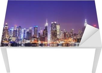 Vinilo para Mesa y Escritorio Manhattan Skyline con reflexiones