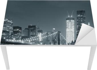 Vinilo para Mesa y Escritorio New York Brooklyn Bridge