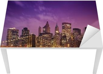 Vinilo para Mesa y Escritorio Nueva York Manhattan Puente de Brooklyn