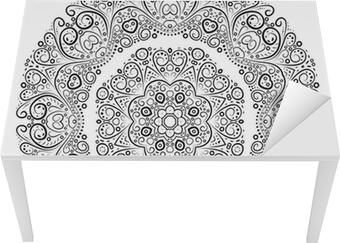 Vinilo para Mesa y Escritorio Ornamento antiguo de la vendimia de fondo. Ilustración del vector.