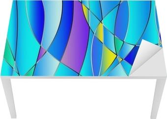 Vinilo para Mesa y Escritorio Textura del vidrio manchado, tono azul, vector de fondo