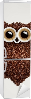Vinilo para Nevera Café búho.