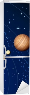Vinilo para Nevera Solar system