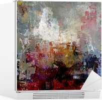 Vinilo para Nevera Texturas pintura abstracta