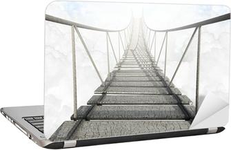 Vinilo para Portátil Puente de cuerda Above The Clouds