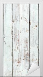 Vinilo para Puerta Fondo blanco y negro de la tabla de madera