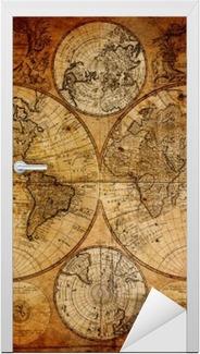 Vinilo para Puerta Mapa antiguo (1746)