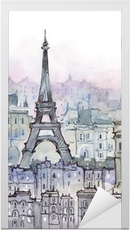 Vinilo para Puerta París