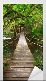 Vinilo para Puerta Puente a la selva, Khao Yai National Park, Tailandia