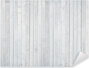 Vinilo Pixerstick Pared de madera blanca
