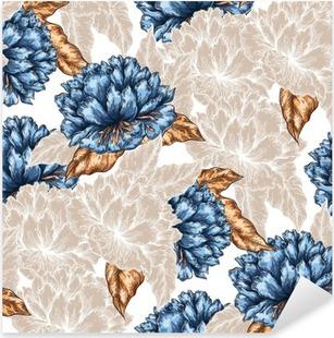 Vinilo Pixerstick Patrón de flores sin fisuras gráfico