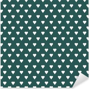 Vinilo Pixerstick Patrón de vectores sin fisuras con corazones blancos en fondo en colores pastel