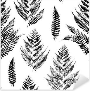 Vinilo Pixerstick Patrón sin fisuras con las impresiones de la pintura de las hojas del helecho