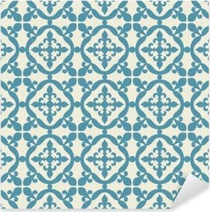 Vinilo Pixerstick Patrón sin fisuras. Portugués, marroquí, azulejo español.