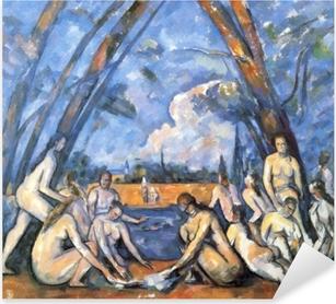 Vinilo Pixerstick Paul Cézanne - Los bañistas