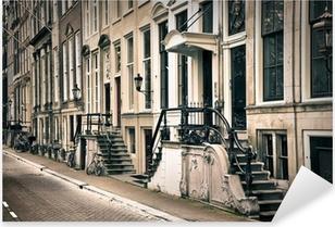Vinilo Pixerstick Perspectiva de la vieja Ámsterdam