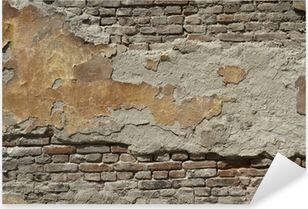Vinilo Pixerstick Pintado pared de ladrillo antiguo