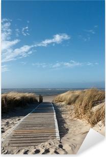 Vinilo Pixerstick Playa del Mar del Norte en Langeoog