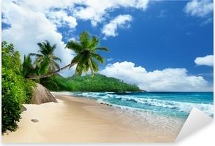 Vinilo Pixerstick Playa en la isla de Mahe, Seychelles