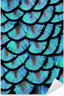 Vinilo Pixerstick Pluma Azul