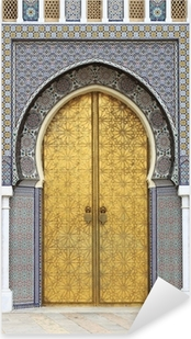 Vinilo Pixerstick Puerta Golded del Palacio Real de Fez, Marruecos