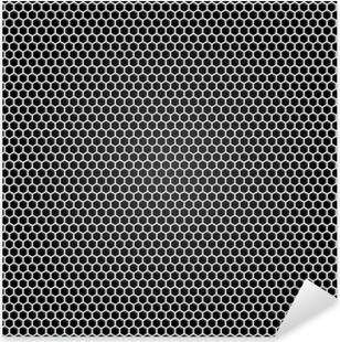 Vinilo Pixerstick Rejilla metálica gris, fondo negro