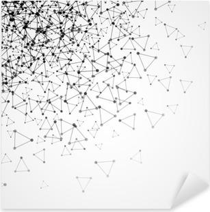 Vinilo Pixerstick Resumen de fondo con rejilla de puntos y células triangulares. ilustración vectorial