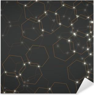 Vinilo Pixerstick Resumen de fondo de las células hexagonales, geométrica ilustración de diseño vectorial eps 10