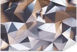 Vinilo Pixerstick Resumen de pared de metal