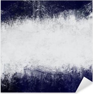 Vinilo Pixerstick Resumen fondo pintado de azul oscuro y blanco con el espacio vacío para el texto