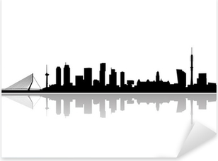 Vinilo Pixerstick Rotterdam city skyline vector