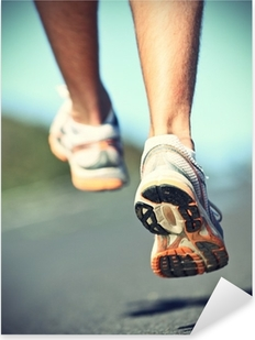 Vinilo Pixerstick Runnning zapatos corredor