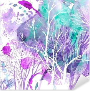 Vinilo Pixerstick Silueta abstracta de árboles