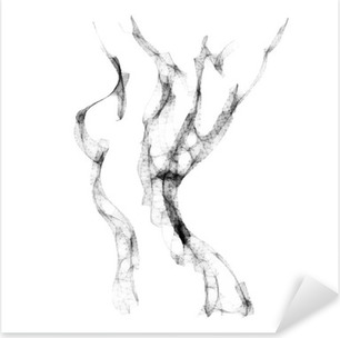 Vinilo Pixerstick Silueta de bella ilustración vectorial mujer desnuda