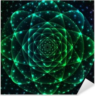 Vinilo Pixerstick Símbolo de la geometría sagrada. Mandala elemento de misterio