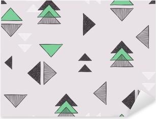 Vinilo Pixerstick Sin costuras a mano patrón de triángulos.