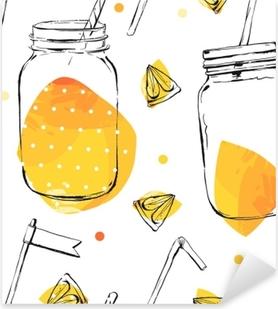 Vinilo Pixerstick Sin patrón con limón y lima.