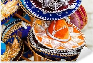 Vinilo Pixerstick Sombreros mexicanos