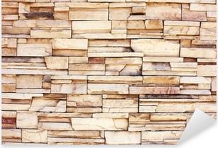Vinilo Pixerstick Stacked muro de piedra
