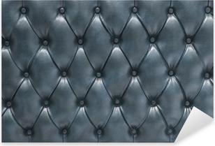 Vinilo Pixerstick Superficie tapizada de cuero acolchado azul
