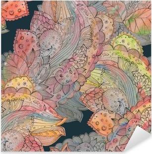 Vinilo Pixerstick Textura inconsútil de la manera con motivo floral abstracto. watercolo