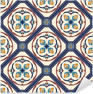 Vinilo Pixerstick Textura inconsútil del vector. patrón de color hermoso para el diseño y la moda con elementos decorativos