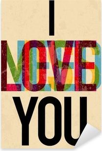 Vinilo Pixerstick Tipo de texto caligráfico Día de San Valentín