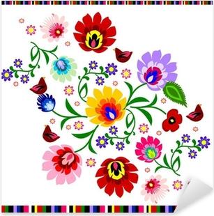 Vinilo Pixerstick Tradicional polaca popular floral vector patrón