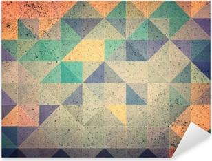 Vinilo Pixerstick Triángulo rosa y morado de fondo abstracto