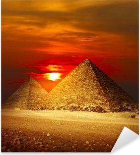 Vinilo Pixerstick Valle de Giza