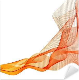 Vinilo Pixerstick Vector naranja resumen de antecedentes de onda líneas agitadas
