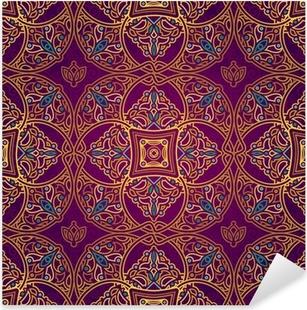 Vinilo Pixerstick Vector patrón transparente en estilo oriental.